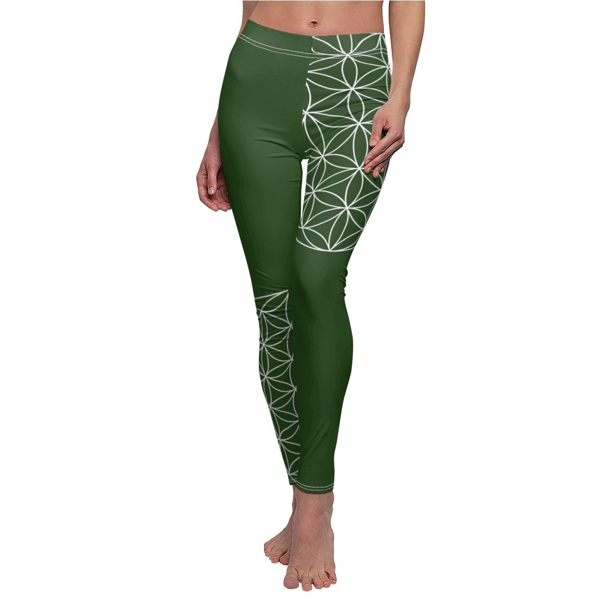 Flower Of Life Yoga Pants For Women Sacred Geometry Festival Clothing Womens Yoga Leggings Hippie Clothes Festival Pants Hapava